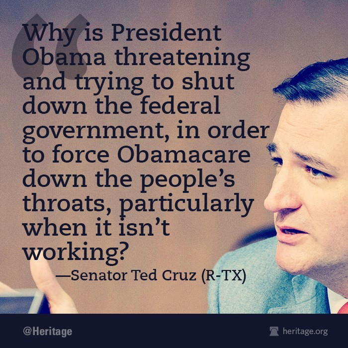 Ted Cruz: Republicans in Washington are Scared…Calls on The People to Help Defeat Obamacare