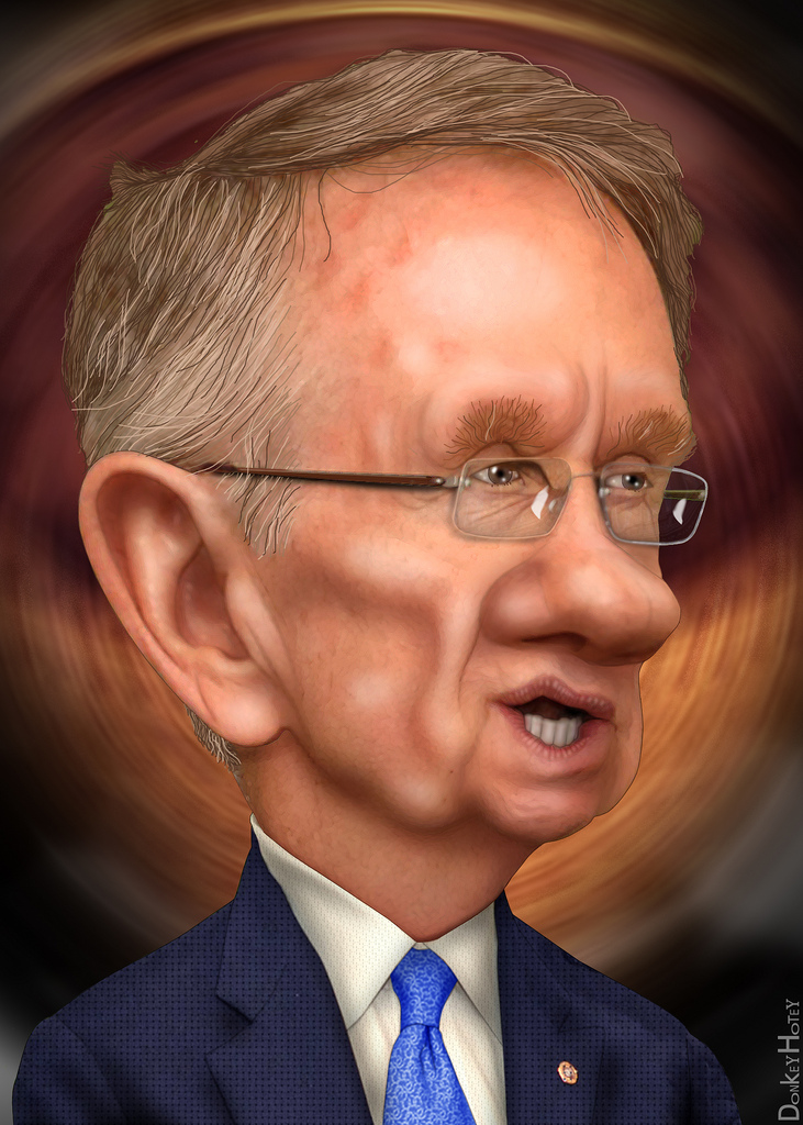 Harry Reid - Caricature