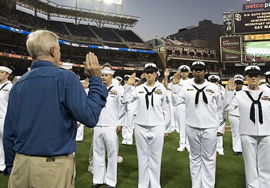Secretary-of-Navy-Administers-Oath-of-Enlistment-to-San-Diego-Sailors