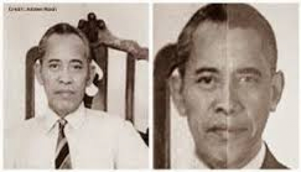 R.M. Muhammad Subuh Sumohadiwidjojo and Barack Obama