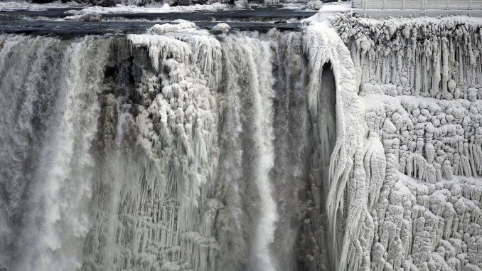 polar vortex freezes niagara falls