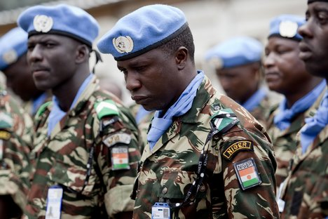 un blue helmet peacekeepers nigeria