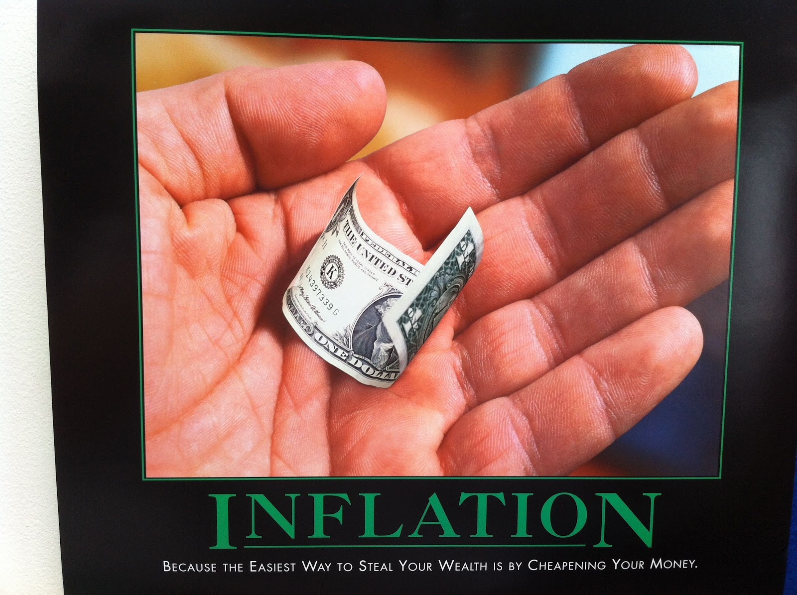 """Inflation is the easy method to steal your health"""