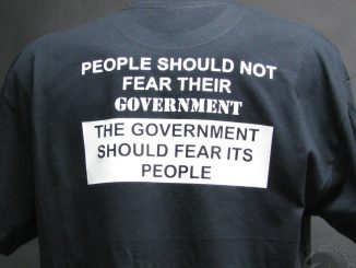 People should not fear their government