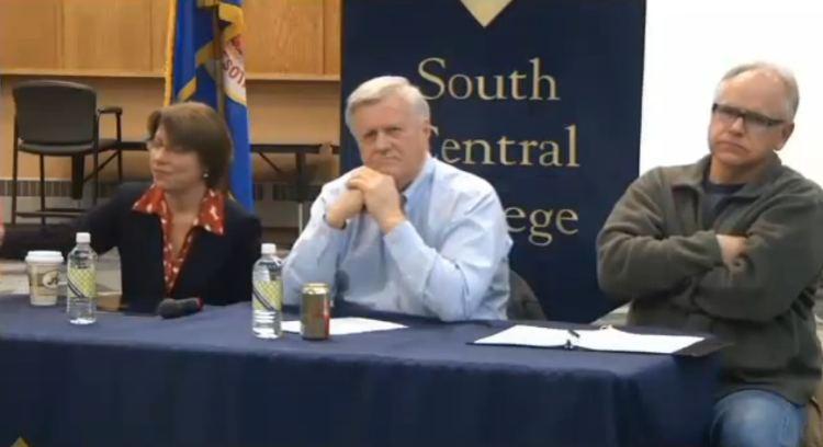 Sen. Amy Klobuchar, Rep. Collin Peterson, Rep. Tim Walz