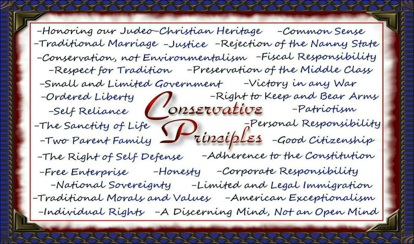 Conservative Principles