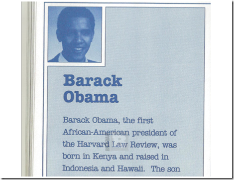 Image Courtesy of Breitbart.com.  Obama's book publisher claimed in 1991 that he was born in Kenya. Barack Obama has since chalked this up to being an honest mistake.