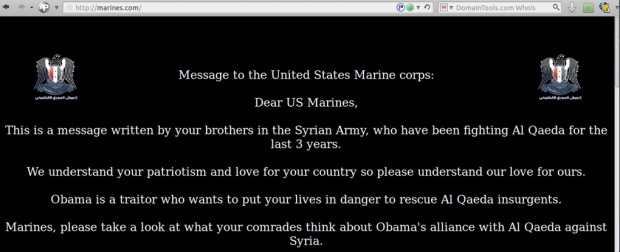 SEA marines.com hack