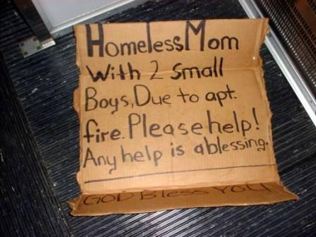 homeless mom