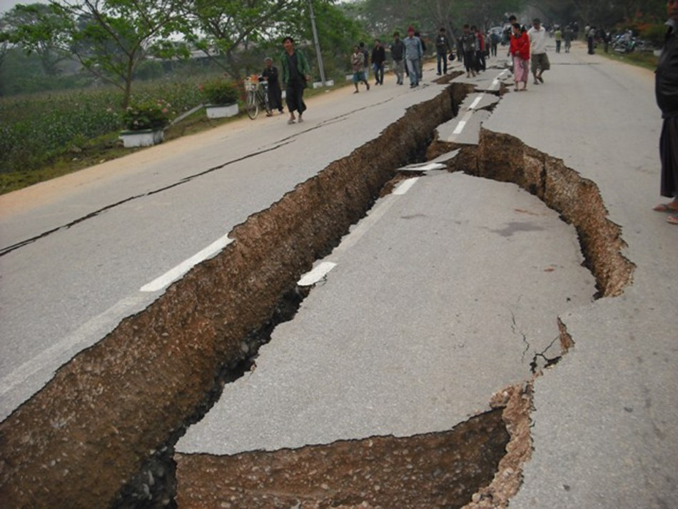 Picture is from a 2011 quake in Myanmar.