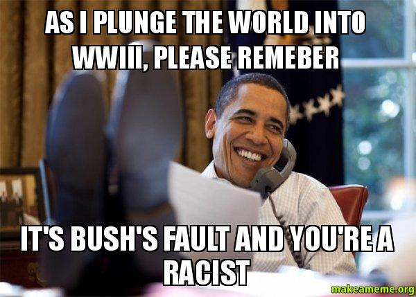 obama ww iii racist