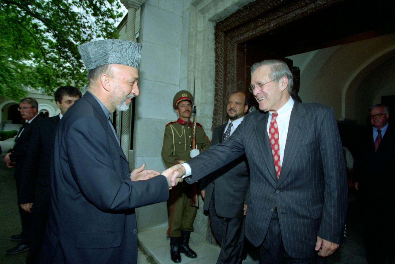 rumsfeld karzai