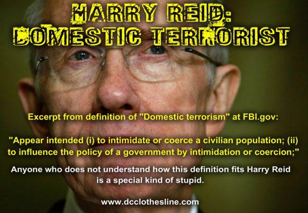 Harry Reid domestic terrorist