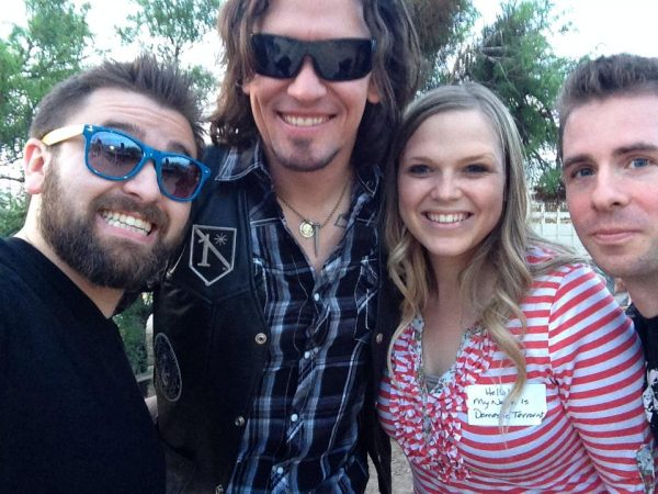 Members of Madison Rising with Bailey Bundy Logue.