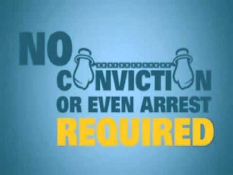 no conviction or arrest required
