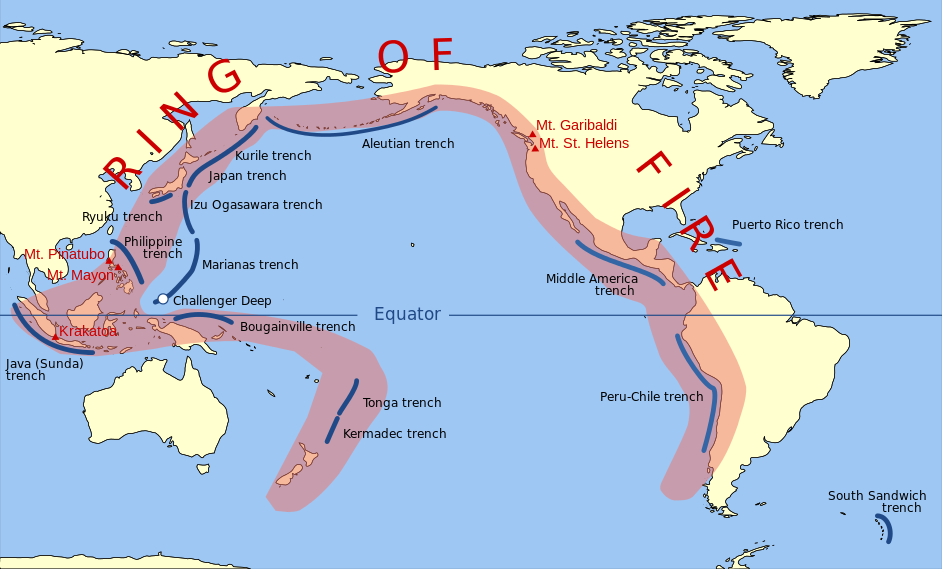 ring of fire map