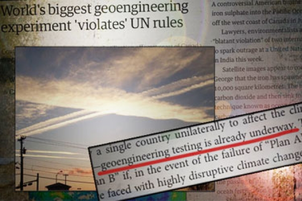 On Record: The Canadian Gov't Is Researching Geoengineering with Chemtrails