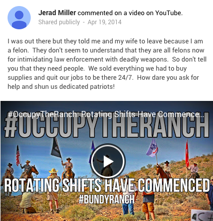 Jerad Miller YouTube comment