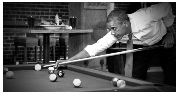 Forget the border for now. Obama has to work on his two rail bank shot.