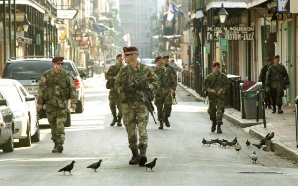 Hurricane Katrina reponse. Image Source: Army.mil
