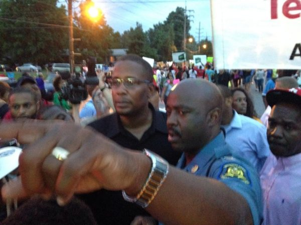 Black Panthers and Cops in Ferguson