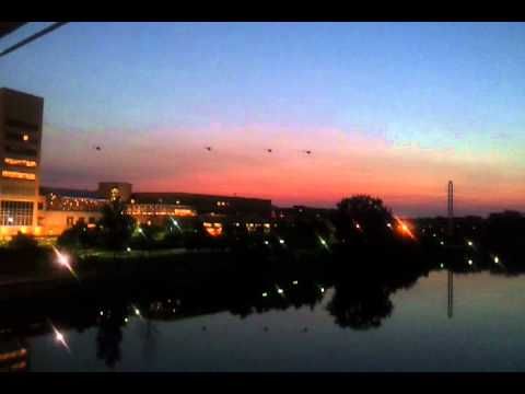 black helicopters fly around Minneapolis Federal Reserve