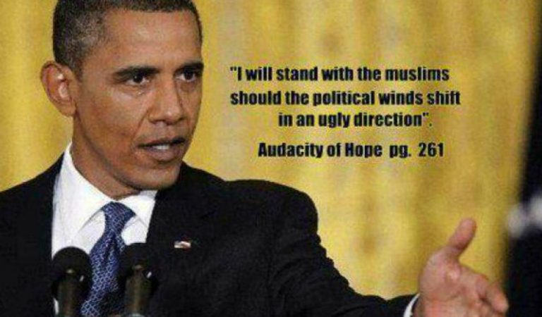 Obama Sides with the Muslims – Goes Fund Raising as Islamists Threaten America