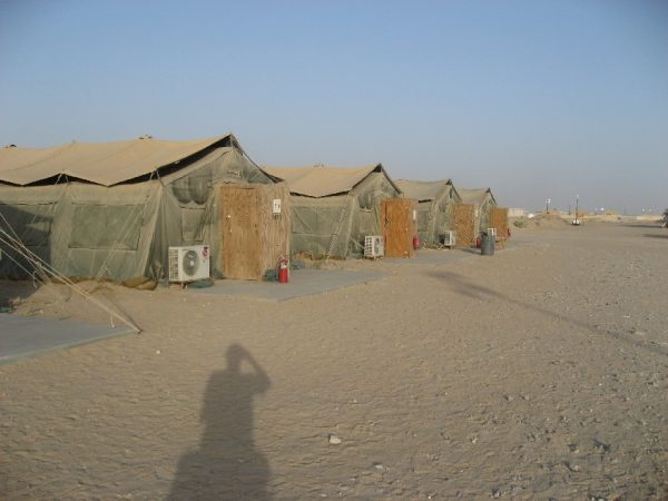 This is an image of Camp Virginia in Kuwait. Please note that this alleged attack may or may not involve this camp.