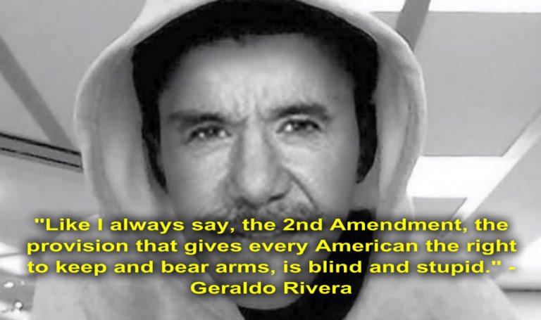 """Geraldo Rivera Calls the Second Amendment """"blind and stupid"""""""