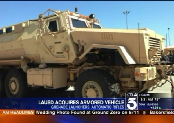 lausd armored vehicle
