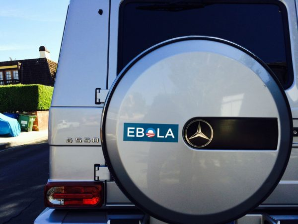 ebola bumper sticker