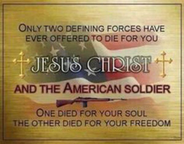jesus christ american soldier