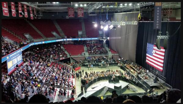 obama empty venue