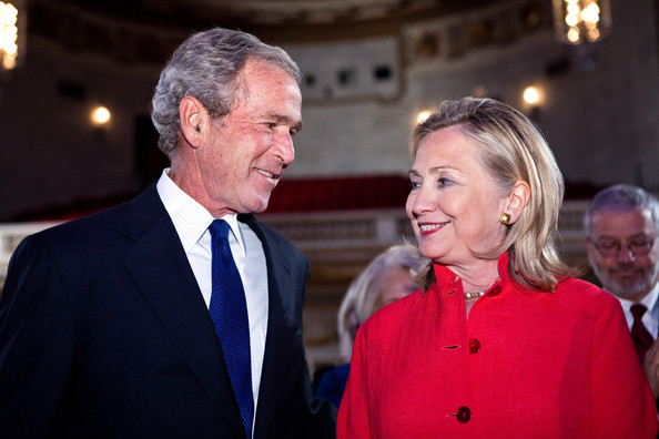 george w bush and hillary clinton
