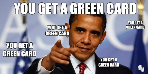 you get a green card