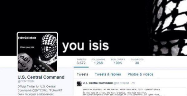 isis centcom twitter hack