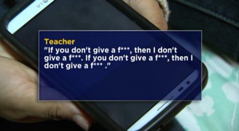 6th grade teacher profane rant