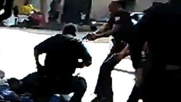 la cop shoots homeless man