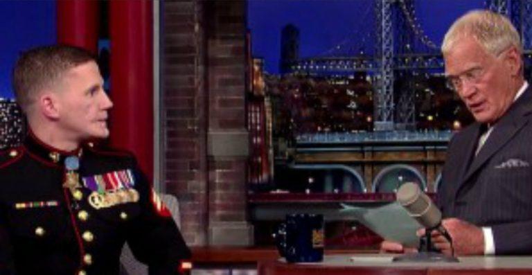David Letterman Recounts Marine's Injuries at the Hands of Muslim Jihadists & Leaves Audience Speechless