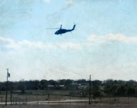 military helicopters over texas