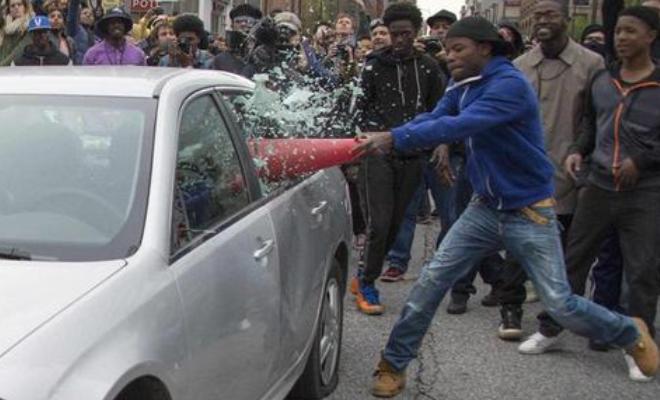 Video: #BlackLivesMatter protesters attack innocent sports fans in Baltimore