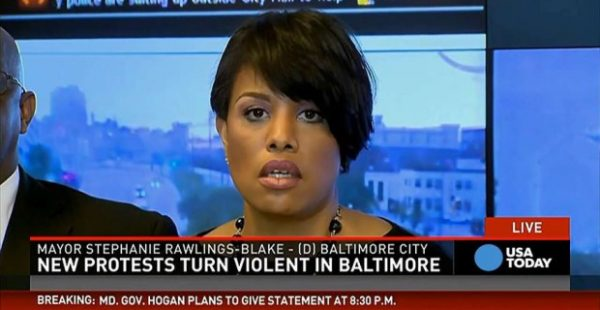 REPORT MAYOR ORDERED POLICE TO STAND DOWN DURING BALTIMORE RIOTS