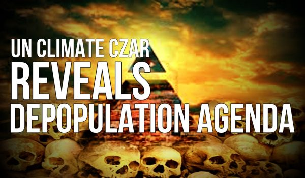 United Nations Climate Czar reveals depopulation agenda