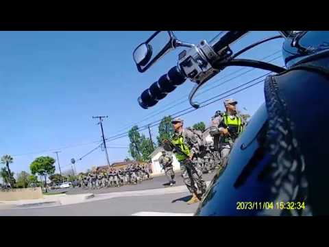 soldiers block traffic california