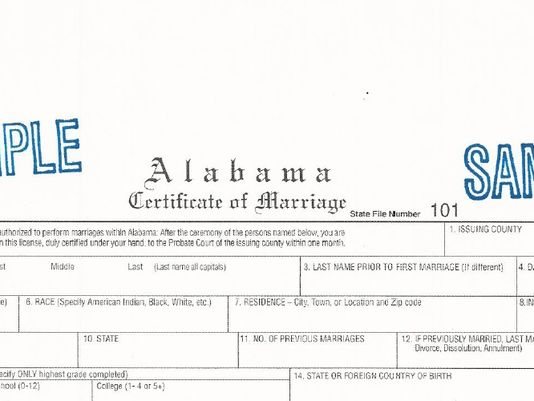 Alabama Senate Approves Bill to Abolish Marriage Licensing