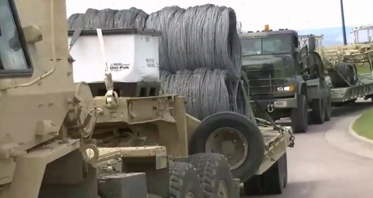 Photos: Massive Raider Focus convoy loaded with razor wire seen near Trinidad, Colorado