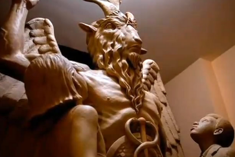 Liberal media promotes Satanists and Satanic Baphomet statue while attacking and ridiculing Christians