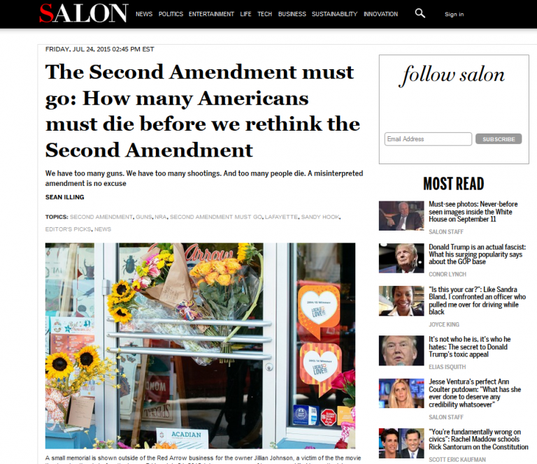 """The Second Amendment must go"" Liberal media openly calls for mass gun confiscation in America"