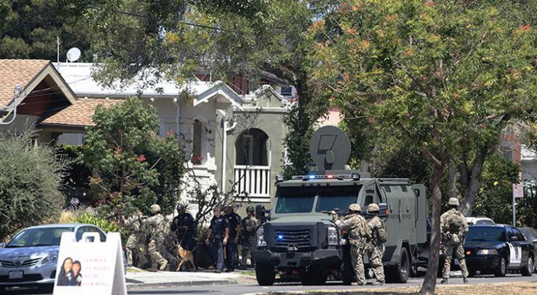 Photos: Berkeley Police conduct full-scale military operation in American neighborhood over one robbery suspect