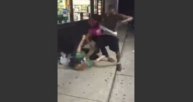 Shock video: Liberal feminists ignore ruthless attack on white woman by black couple
